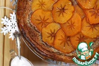 Рецепт: Тарт с франжипаном и хурмой