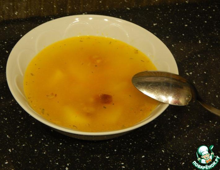 Рецепт: Гороховый суп с копченой колбасой