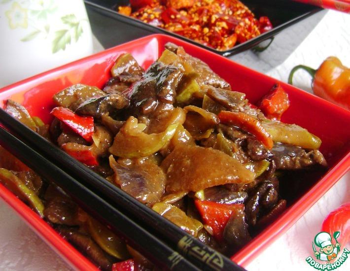 Рецепт: Рагу из говядины, овощей и грибов