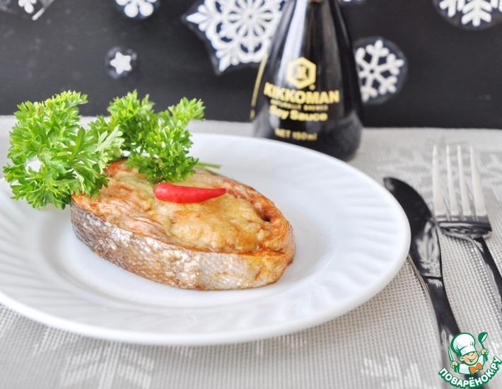 Рецепт: Кольца из лосося с шампиньонами