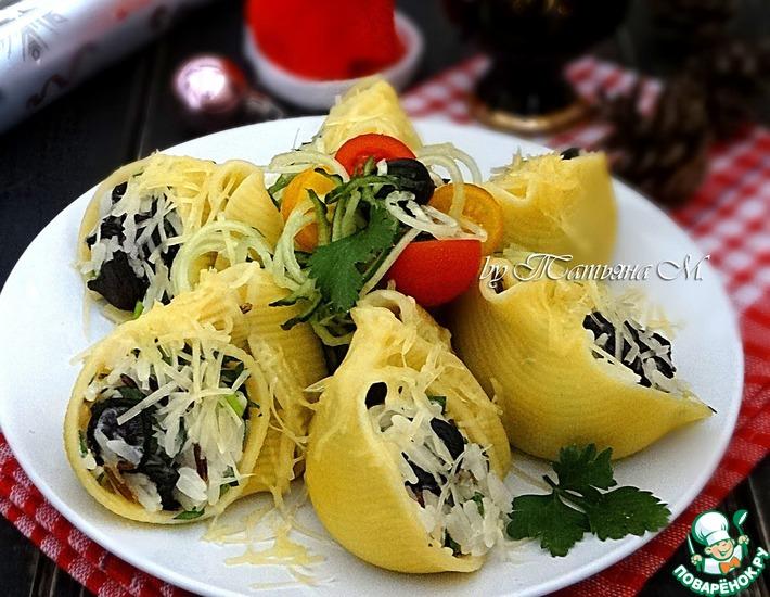 Рецепт: Закуска из фаршированных лумакони