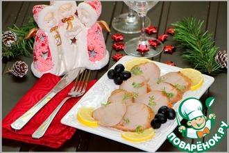Рецепт: Нарезка для праздника из маринованной свинины