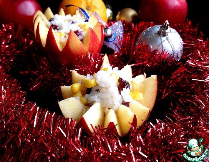Рецепт: Фаршированное яблоко Для Евы