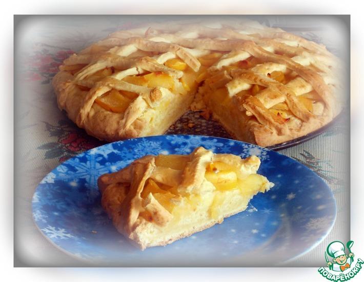 Рецепт: Айвовый песочный пирог