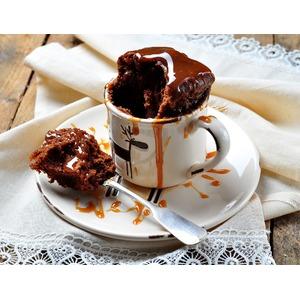 Шоколадный кекс в СВЧ за 2 минуты