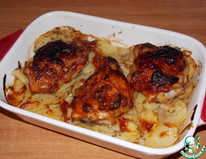 Картошка запеченная с курицей по-восточному – кулинарный рецепт