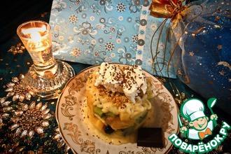 Рецепт: Десерт Новогодняя сказка