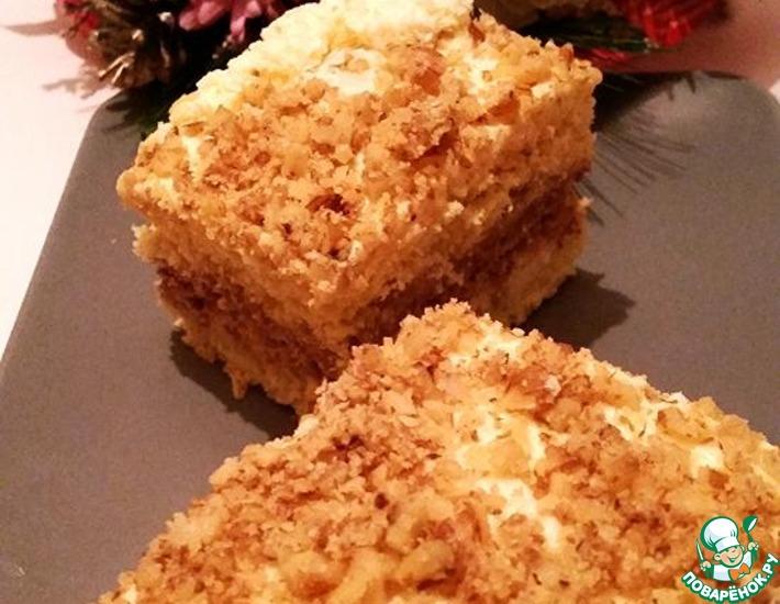 Рецепт: Торт ореховый