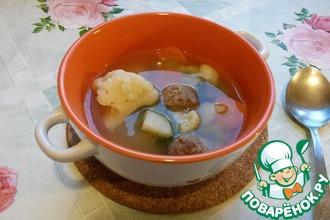 Рецепт: Лёгкий суп с фрикадельками
