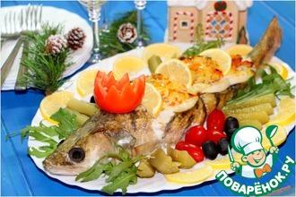 Рецепт: Фаршированная рыба Цесаревич Судакевич