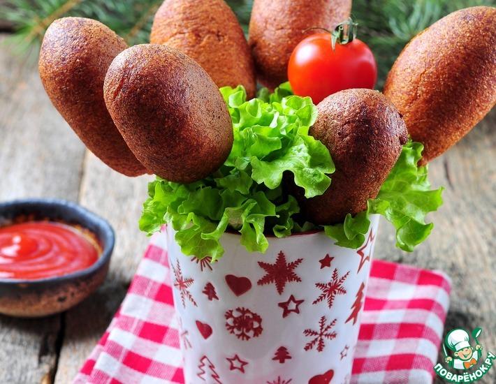 Рецепт: Сосиска в кукурузном кляре Корндог попс