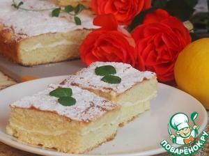 Рецепт Лимонно-творожный пирог
