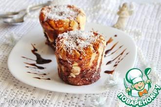 Рецепт: Шоколадно-кокосовый десерт