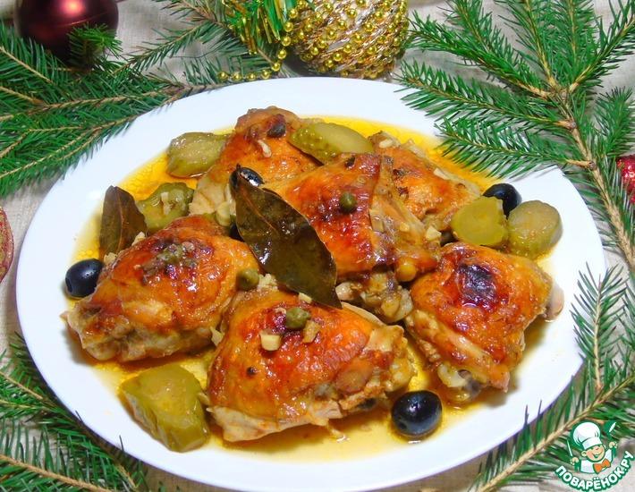 Рецепт: Курица в пряном соусе