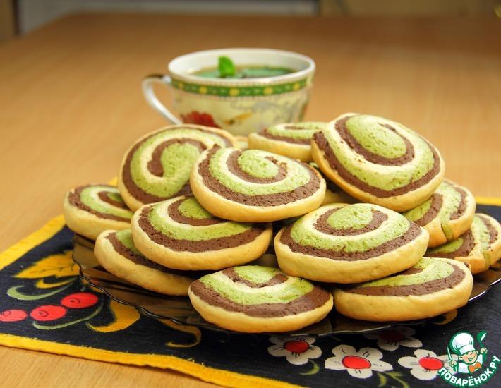 Рецепт: Шоколадно-мятное печенье Шокомятки