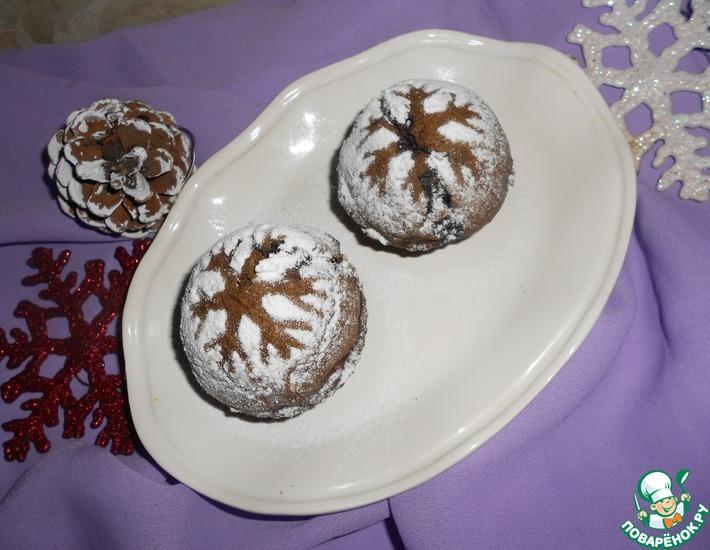 Рецепт: Кексы Снежинки