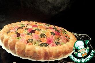 Рецепт: Пирог с овощными розами
