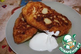 Рецепт: Картопляники с куриным фаршем и сыром