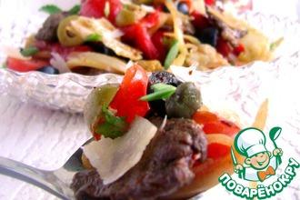 Рецепт: Салат Киккомарин с маринованным луком