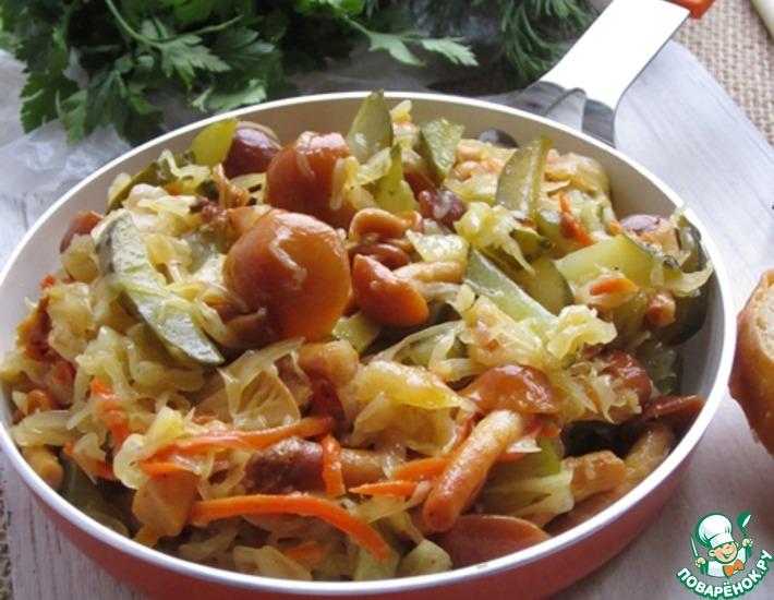 Рецепт: Закуска из квашеной капусты