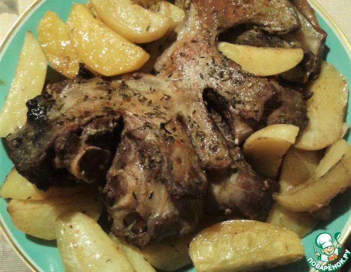 Рецепт: Баранина в духовке с картошкой