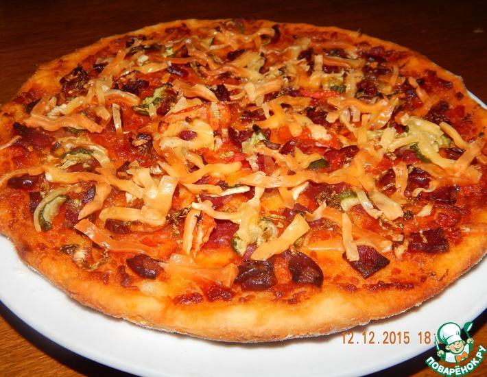 Рецепт: Пицца из картофельного теста