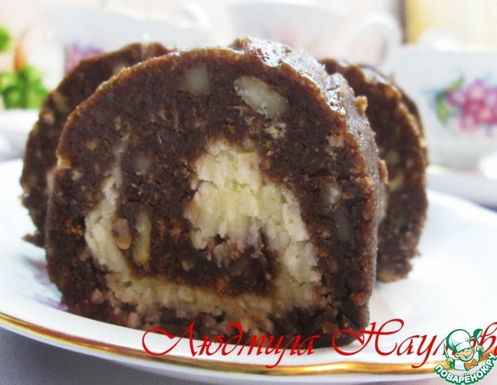 Рецепт: Рулет шоколадно-кокосовый