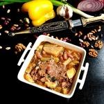 Грузинский фасолевый суп с кроликом