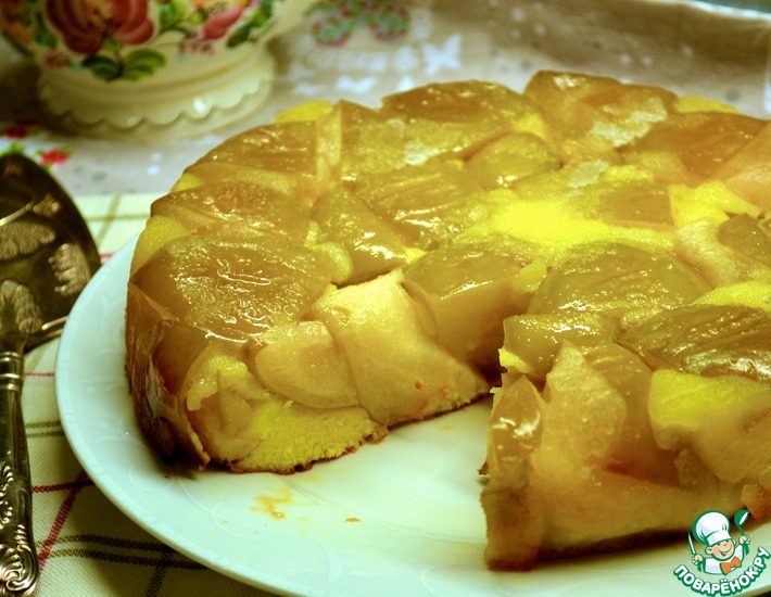 Рецепт: Яблочный пирог Янтарный