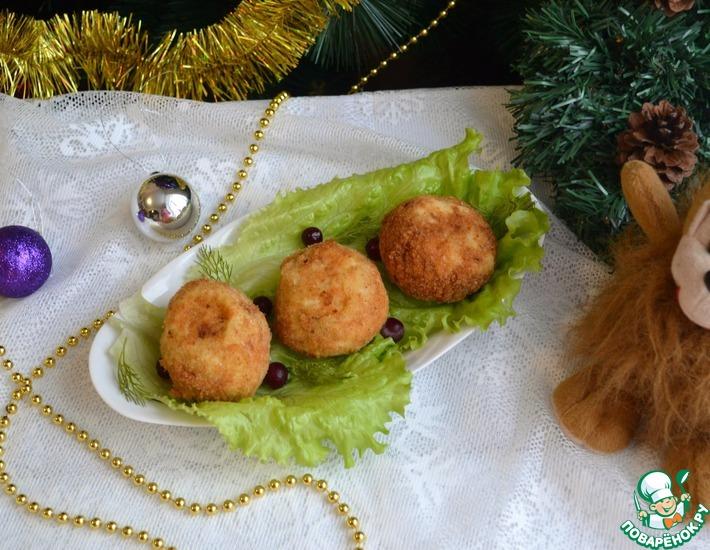 Рецепт: Крокеты картофельные Золотой шар с сюрпризом