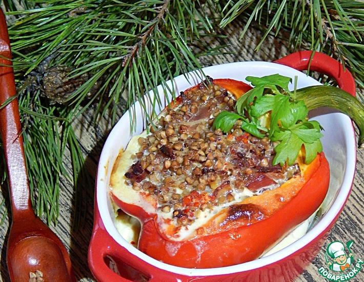 Рецепт: Сладкий перец с гречневой крупой