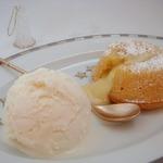 Лимонно-карамельный фондан с белым шоколадом