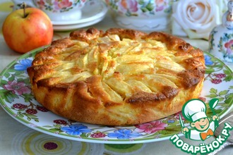 Рецепт: Итальянский деревенский яблочный пирог