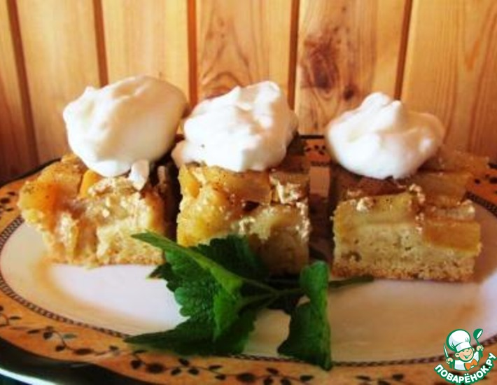 Рецепт: Яблочный пирог в сливках
