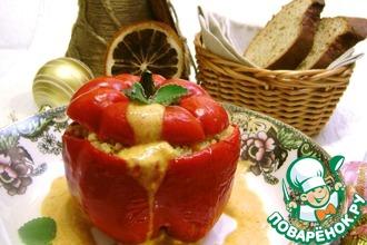 Рецепт: Перец фаршированный «Праздничные фантазии»