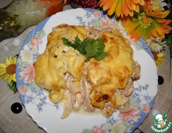 Рецепт: Кальмары Сливочно-сырное удовольствие
