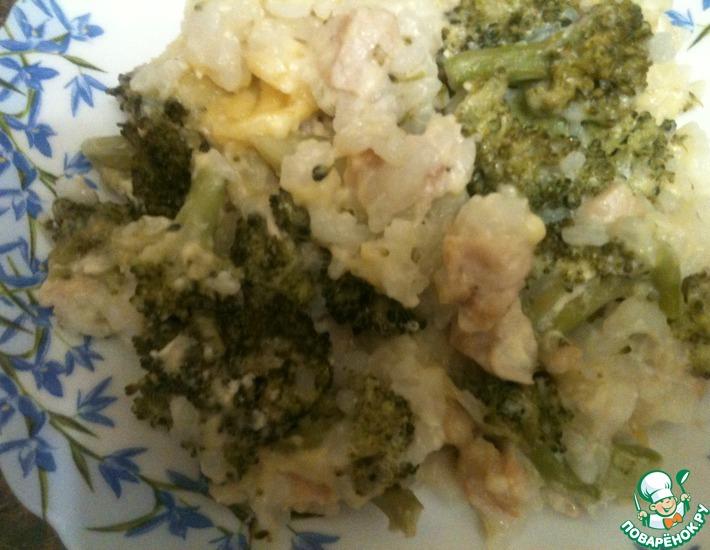 Рецепт: Запеченное куриное филе с брокколи