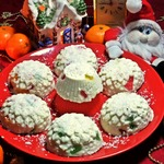Творожный десерт с мармеладом