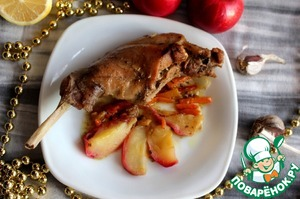 Рецепт Тушеный кролик в мультиварке в сметане и яблоками