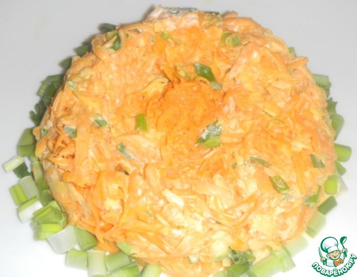 Рецепт: Острый салат из тыквы и сыра