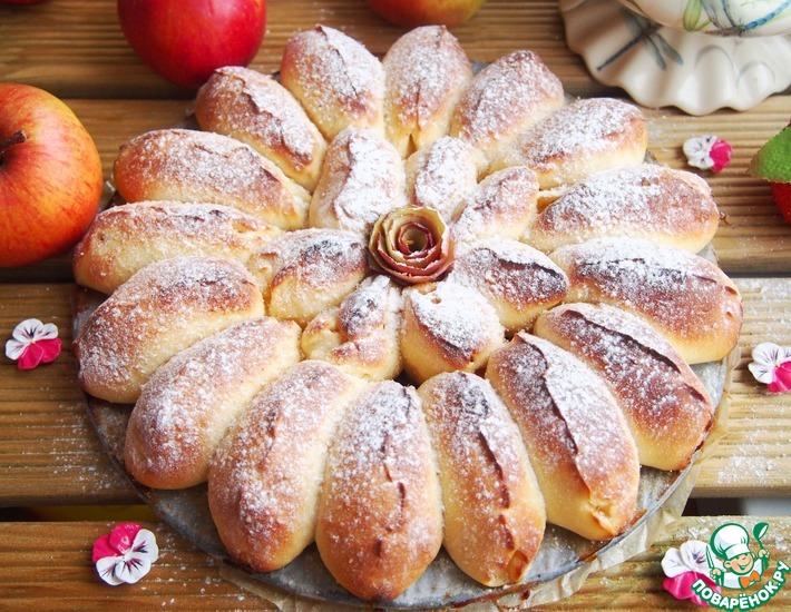 Рецепт: Отрывной яблочный пирог
