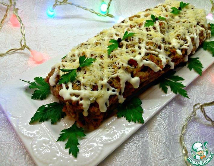Рецепт: Куриный рулет с сыром и орехами