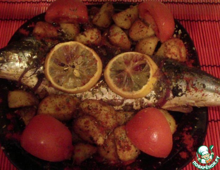 Рецепт: Рыба с травами и картофелем