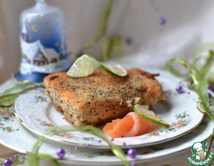 Рецепт: Горячее Новогодний лосось