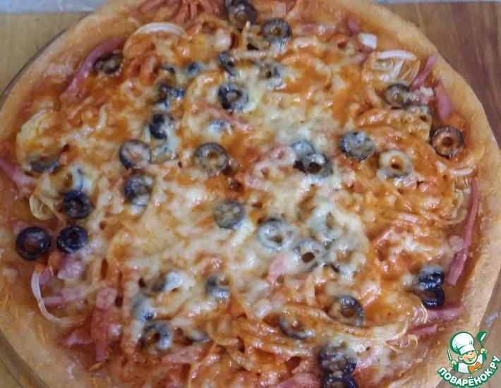 Рецепт: Пицца Безумие в микроволновке