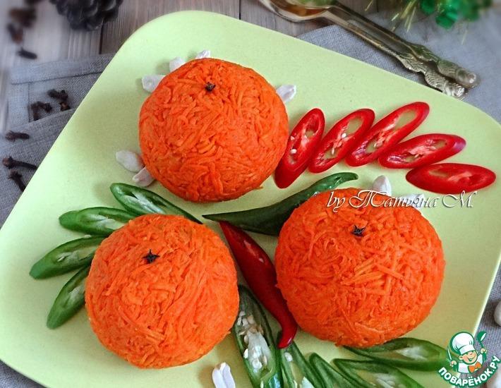 Рецепт: Салат-закуска Апельсин