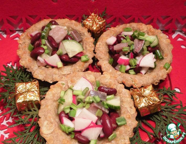 Рецепт: Тарталетки с селедочным салатом