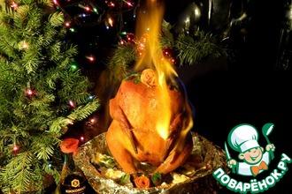 Рецепт: Курица фламбе
