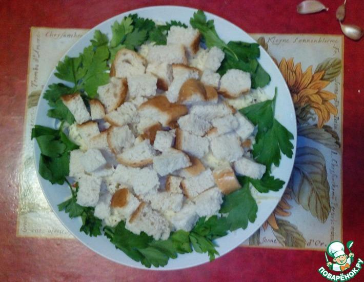 Рецепт: Салат с курицей и шампиньонами Премьер