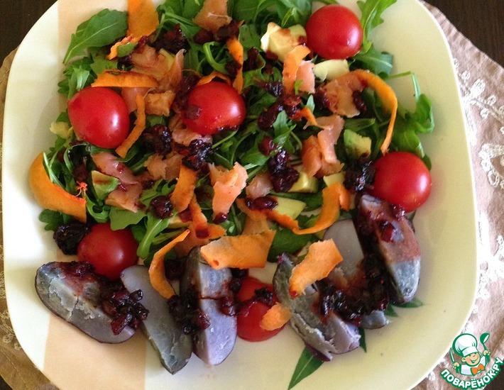 Рецепт: Теплый салат Лиловая рапсодия